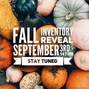 Fall inventory coming soon!!